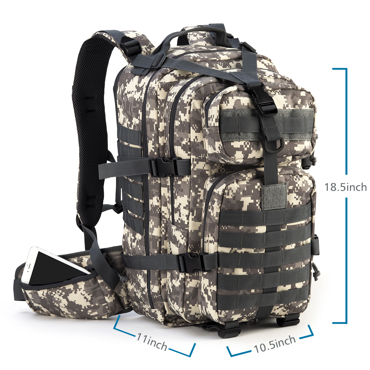 Small Molle For Army Rupumpack Trekking Hydration Hiking Hunting Bag 35l Out Outdoor Military Rucksack Camping Backpack Tactical Assault Bug zVMpSqU
